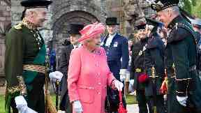 Royal: The Queen at the Palace of Holyroodhouse.