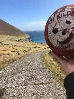 Wilson enjoying St Kilda before his trip.