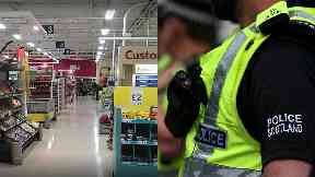 Tesco: Police were called to the store.