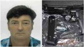 Former navy officer caught with guns and ammunition