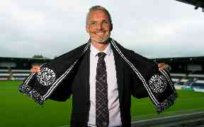 Jim Goodwin: Quickly appointed St Mirren manager.