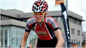 Racing: Ben won the British Road Race championships.