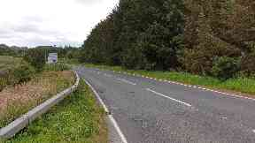 Aberdeenshire: Yvonne Lumsden died following the crash on the A948.