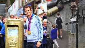Andy Murray's gold post box reinstated after being hit by car
