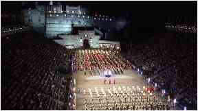 Military tattoo: Draws a nightly crowd of more than 8,000.