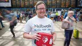 Lifesaver: Donald wants to help buy more defibrillators.