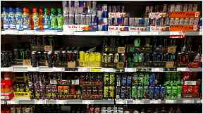 Leisure centres ban sale of energy drinks to under-16s