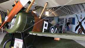 Restoration: Sopwith Camel refurbished by plane enthusiasts.
