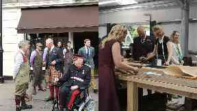 Royal: Prince Charles visited the Highlands.