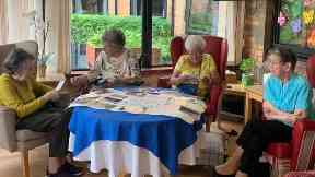 Eastwood Court Care Home: The residents reminiscing.