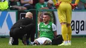 Tom James was injured during Saturday's win over St Mirren.