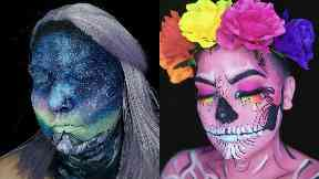 Stephie loves creating intricate works with face paint.