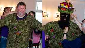 Dressing up: Andrew Taylor donned the burrs as this year's Burryman.