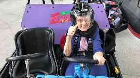 Ellen, 95, knew no fear during her time on the track.