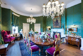 Dining room: Castle on sale for £8m.