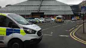 Industrial accident: The man was pronounced dead at the scene.