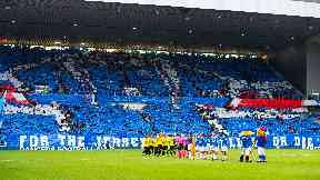 A section of Ibrox will be closed for the match against Legia Warsaw.