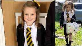 Back to school: Lucie before and after.