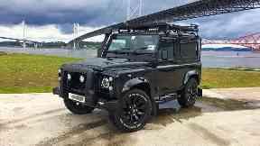 Stolen: The Land Rover was taken in the raid.