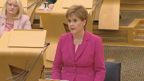 Nicola Sturgeon: First Minister lays out legislative plans.