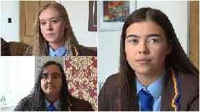 Pupils: Brogan, Niamh and Asmaa don't want things to change.