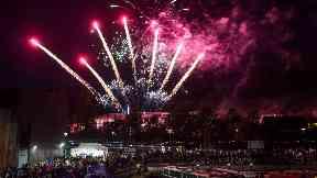 Kirkintilloch Canal Festival: Fireworks lit up the sky on Saturday.