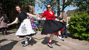 Dancing: The event brings £285,000 to the local economy.