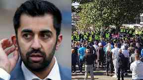 Humza Yousaf: There is 'collective desire to eradicate hatred from our streets'.