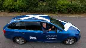 Taxi: Mr Jamieson started the service earlier this summer.