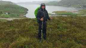 Adventurer: Douglas Sewell completed the Scottish National Trail.