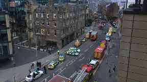 Edinburgh: Fire service search dogs have also been called to the scene.