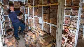 Mark Cranston keeps 3500 bricks in his garden shed.