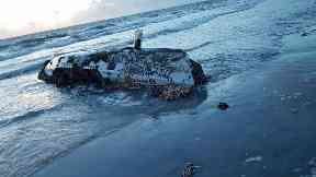 Washed up: The abandoned boat was found in South Uist.