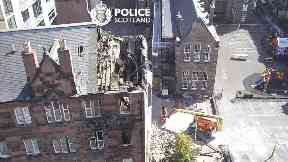 Edinburgh: Police Scotland's Air Support Unit snapped the picture.