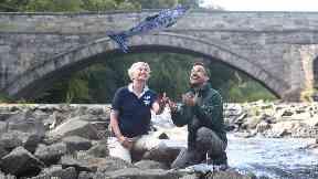 River Almond: The rock ramp will help fish travel upstream.