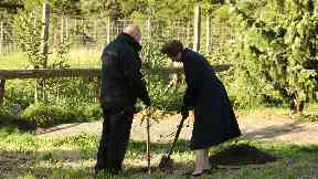 Royal: The princess also planted a tree.