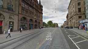 Edinburgh: The pedestrian was hurt on South St Andrew Street.