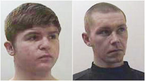 Aaron Thomson and Dillin Armstrong were among six men jailed.