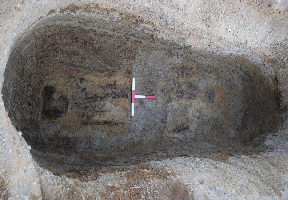 Outlines: Woman died around 1,400 years ago.