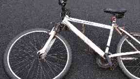 Appeal: Police released an image of the man's bike.