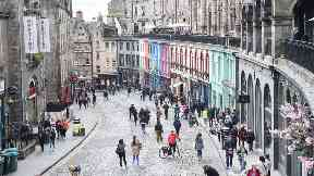 Edinburgh: A number of streets will be closed to traffic.