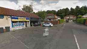 Investigation: The Bearsden store was robbed on Friday.