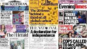 Read all about it: Front page news across Scotland on Thursday.