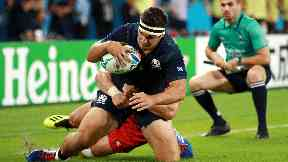 McInally has been dropped from the side to face Japan on Sunday.