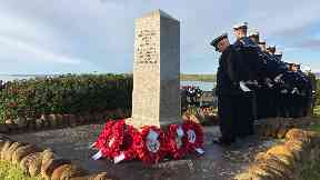 Servicemen remember those who lost their lives.