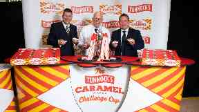 The tournament is sponsored by Tunnock's Caramel Wafer.