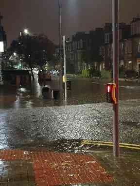 Parts of Aberdeen were cut off due to flooding.
