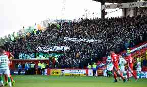 Response: Celtic fans with message to Mussolini's granddaughter.
