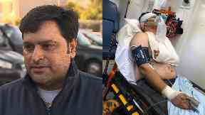 Attacked: Sajid Javed was slashed and stabbed.