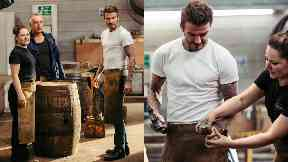 Cambus Cooperage: Beckham was shown what to do by Kirsty Olychick.